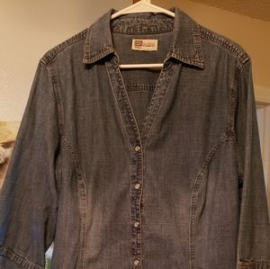 Faded Glory Jean blouse
